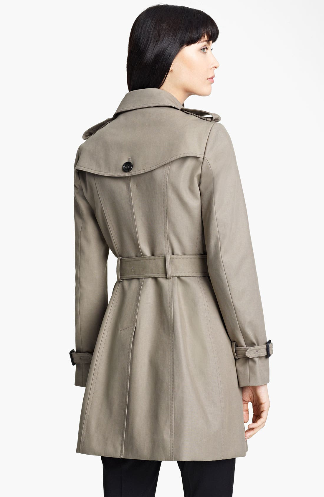 Alternate Image 2  - Burberry Prorsum Belted Twill Trench Coat