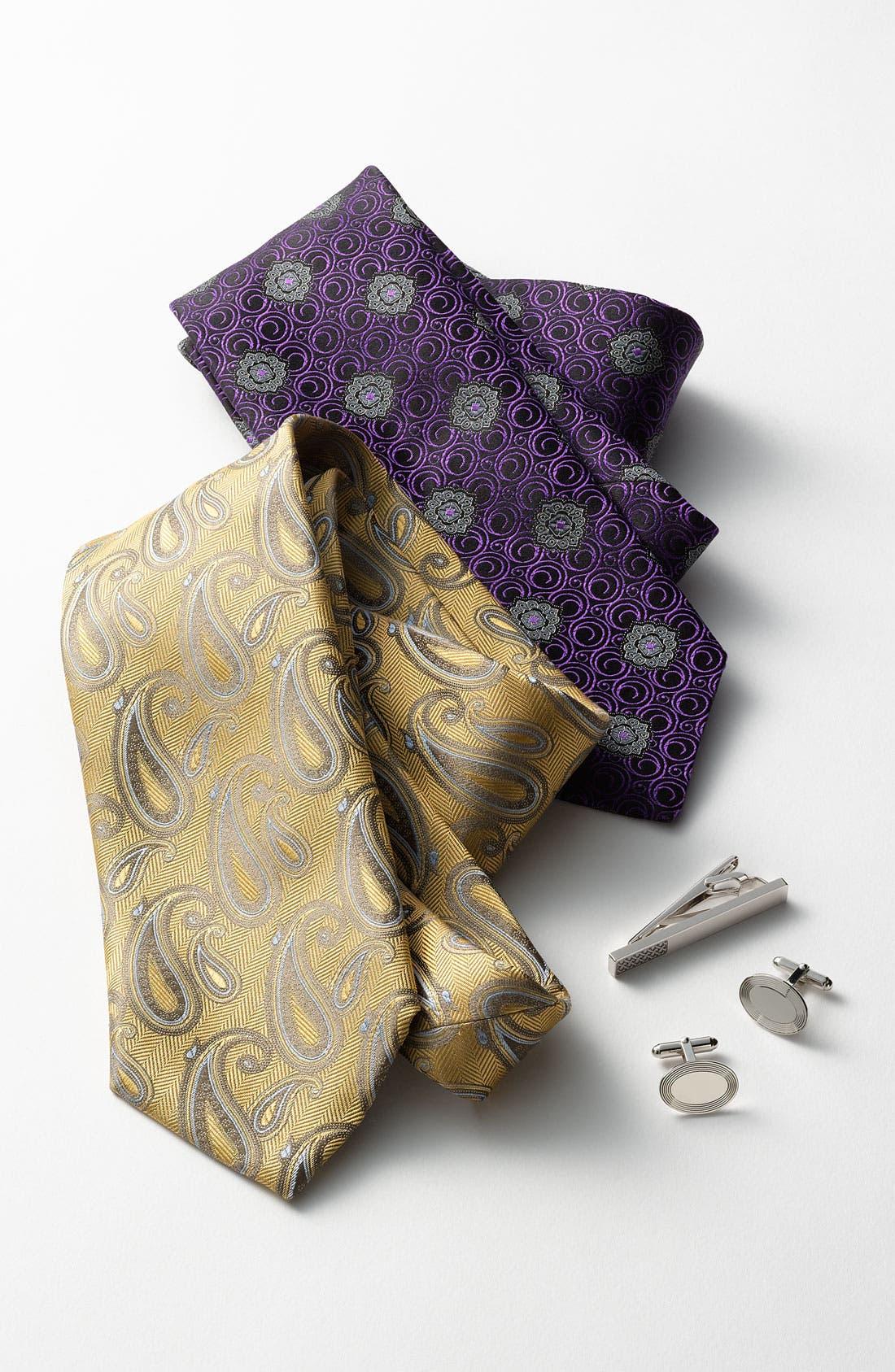 Alternate Image 3  - Canali Woven Silk Tie