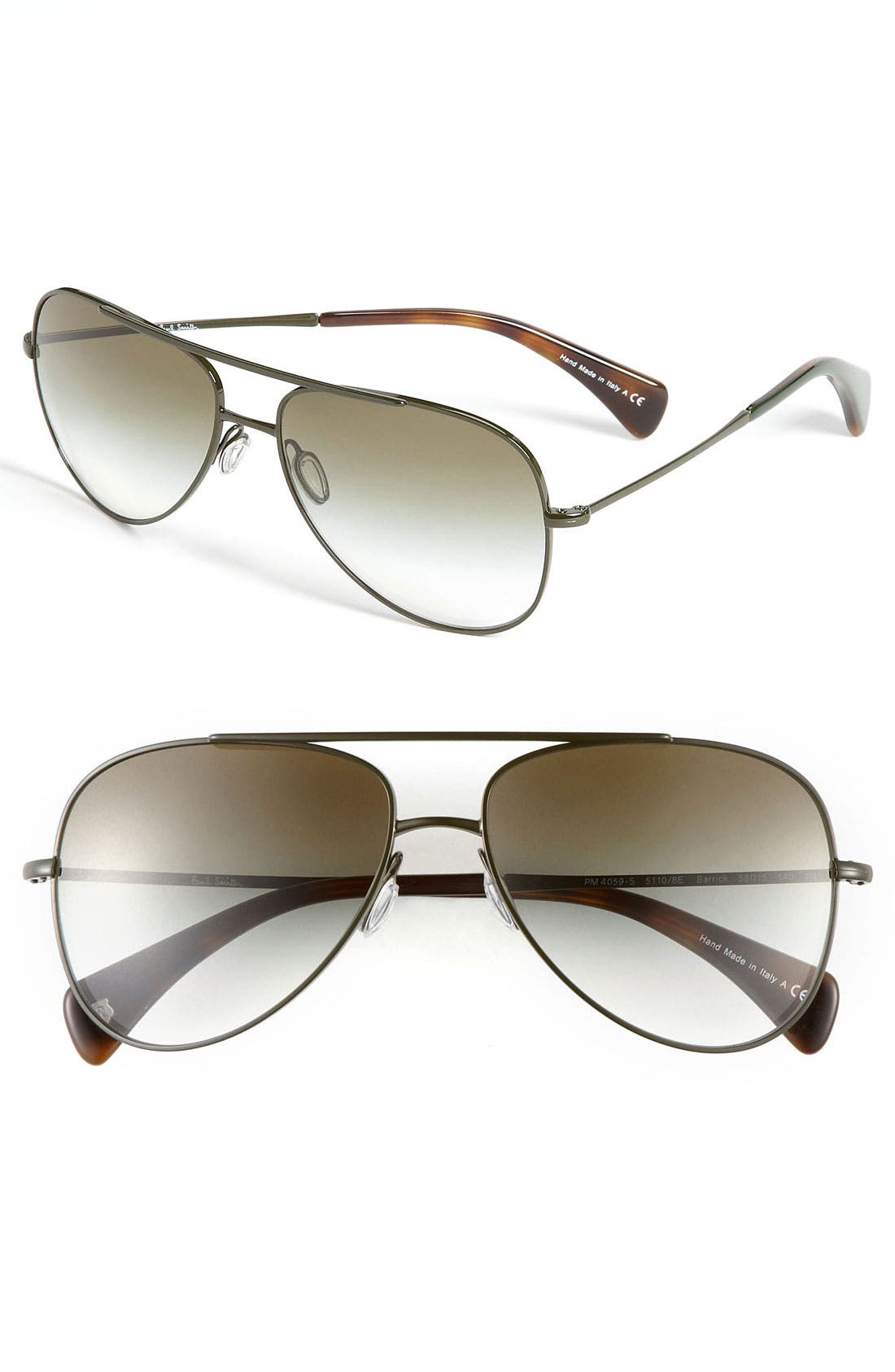 Alternate Image 1 Selected - Paul Smith 'Barrick' Aviator Sunglasses