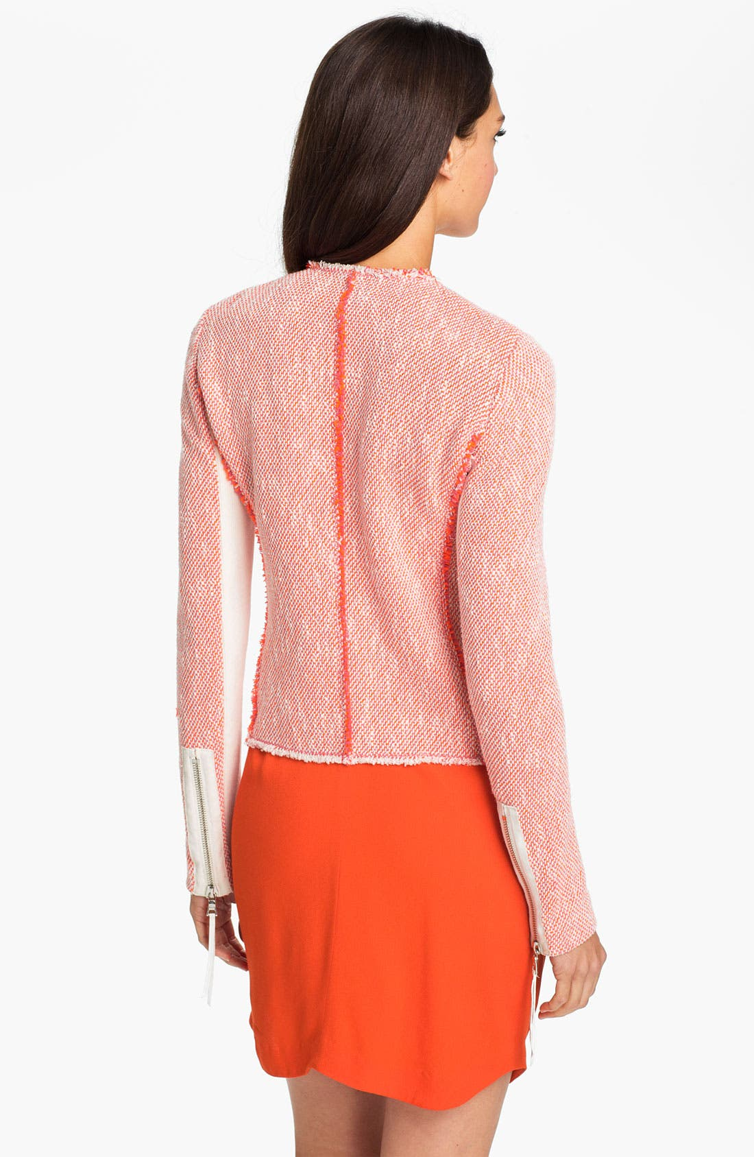 Alternate Image 2  - Rebecca Taylor Neon Tweed Jacket