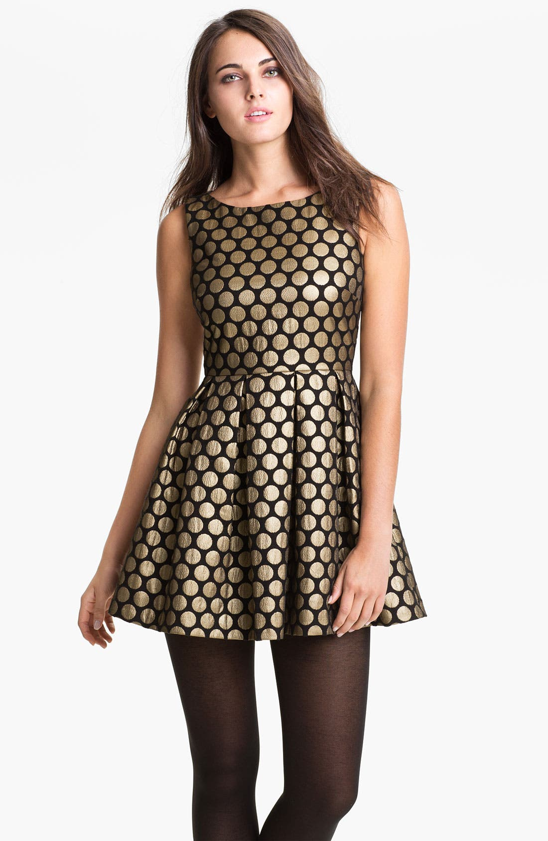 Main Image - Vince Camuto Dot Jacquard Dress