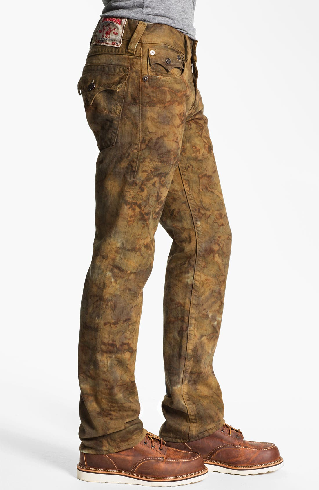 Alternate Image 3  - True Religion Brand Jeans 'Ricky' Straight Leg Jeans (Military Tie Dye)