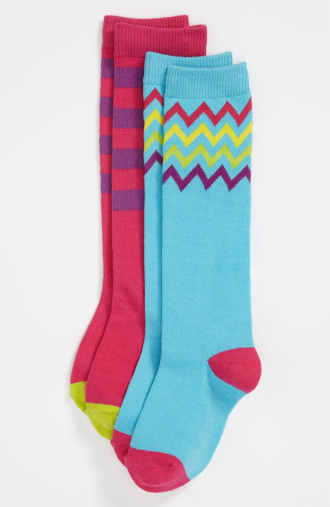 Main Image - Nordstrom 'Mix & Match' Knee Socks (2-Pack) (Girls)
