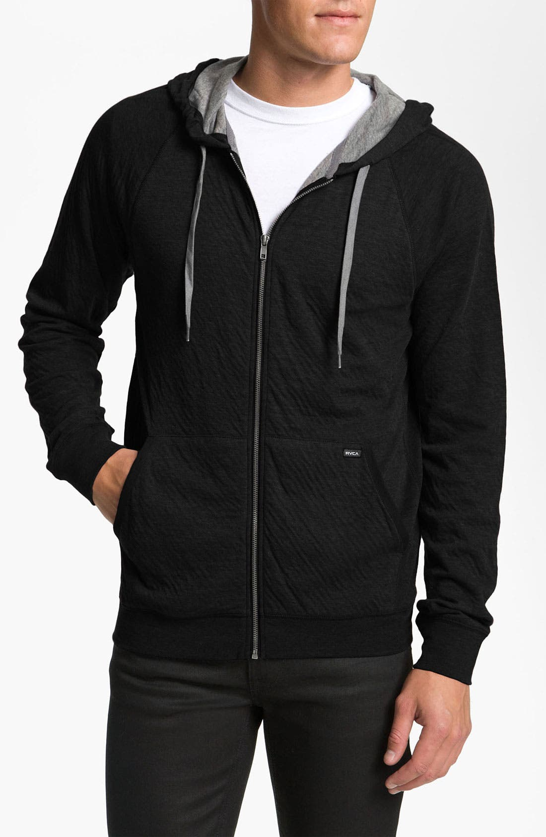 Alternate Image 1 Selected - RVCA 'Double-Time' Zip Hoodie