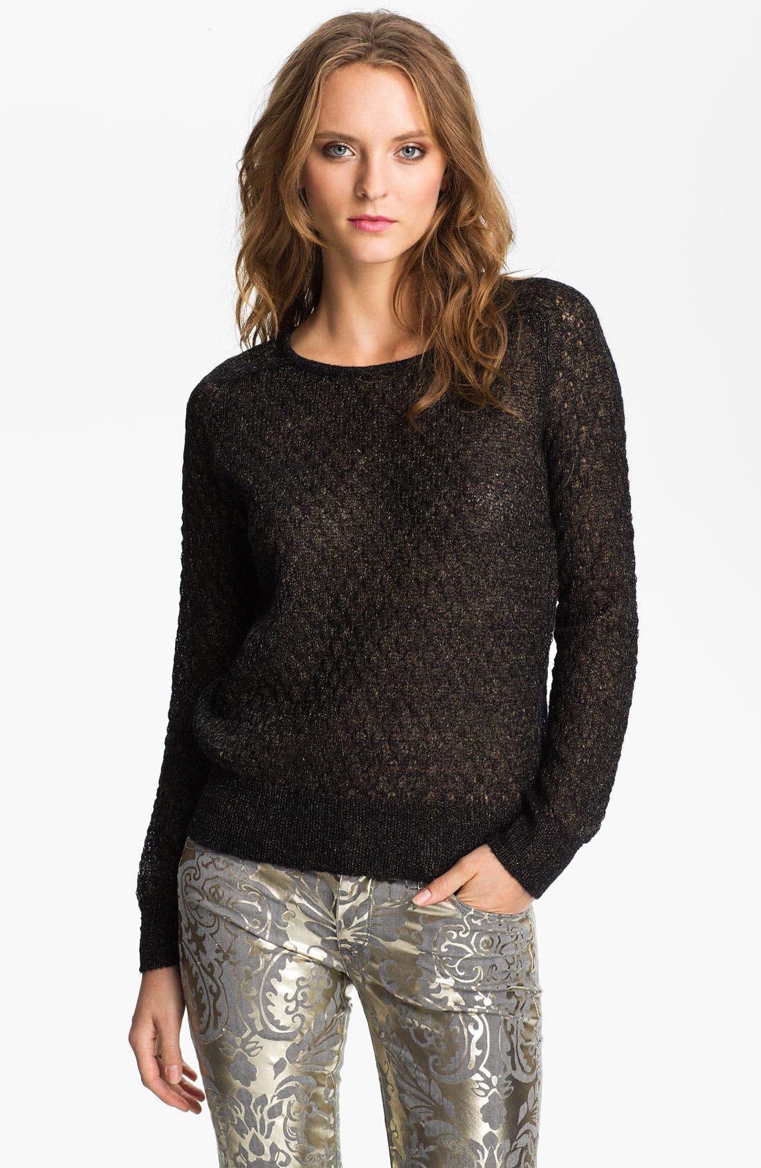 Main Image - Hinge Metallic Pointelle Mohair Sweater