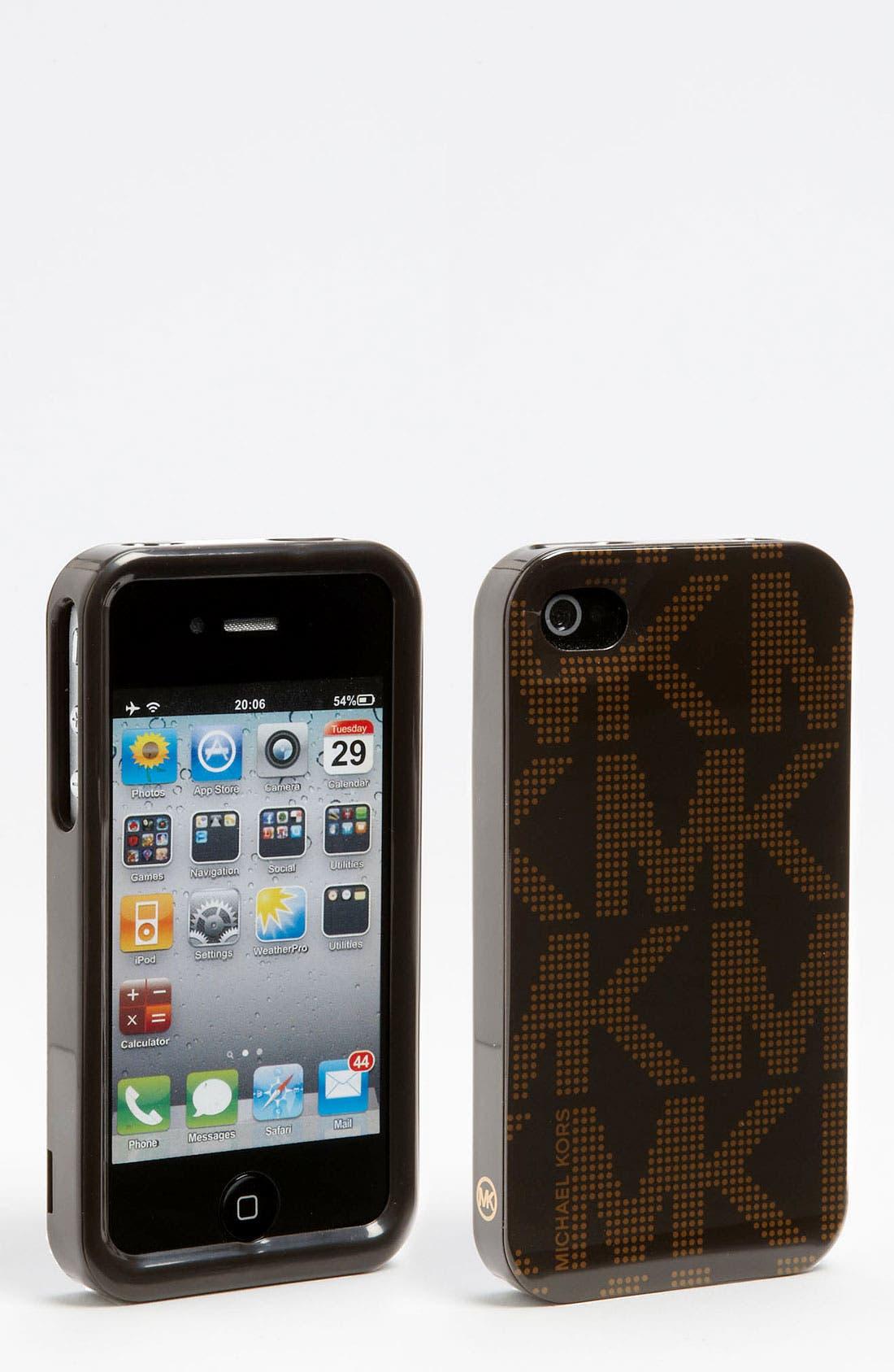 Alternate Image 1 Selected - MICHAEL Michael Kors Signature iPhone 4 & 4S Case