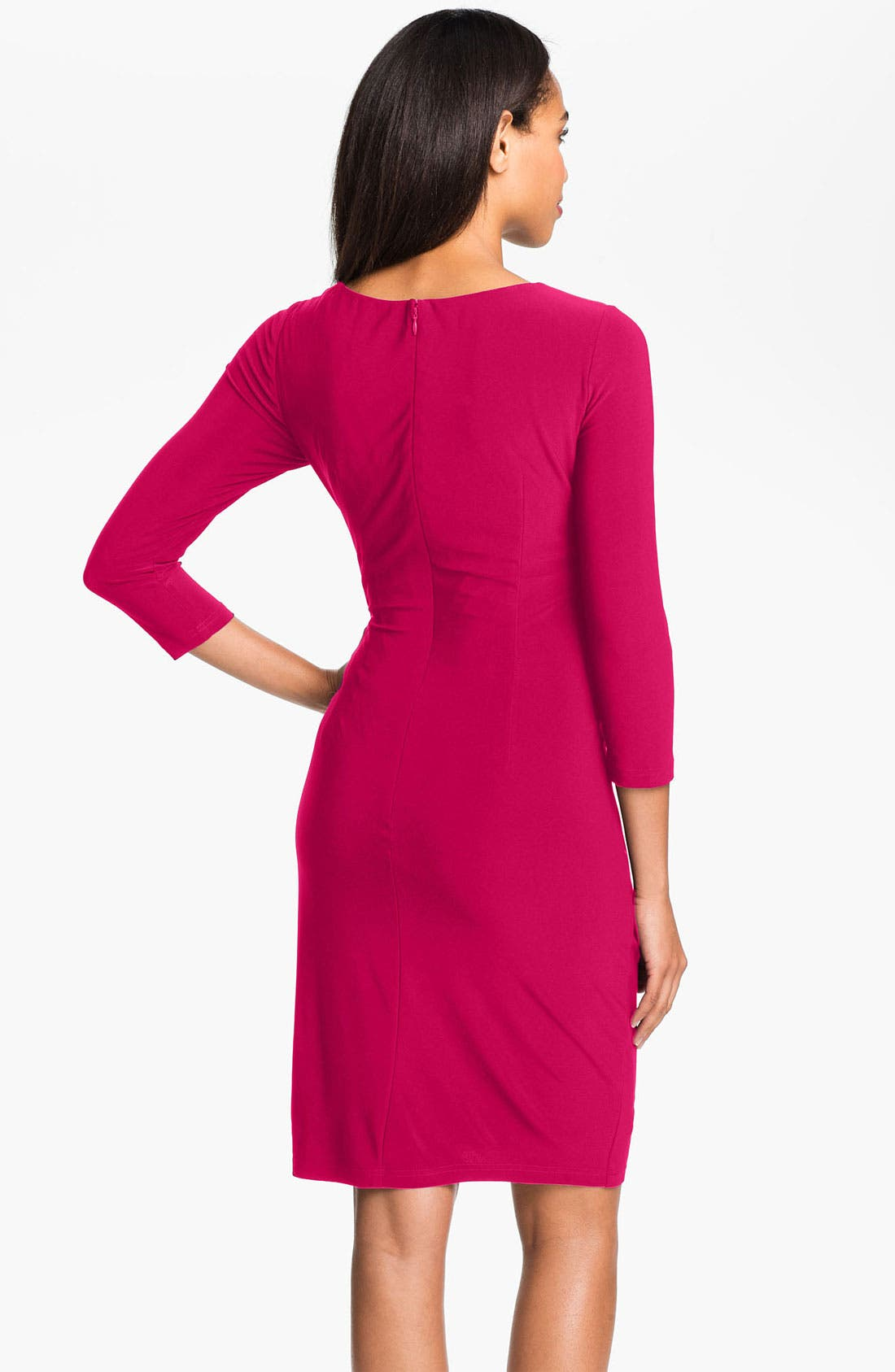 Alternate Image 2  - Adrianna Papell Asymmetrically Ruched Jersey Dress