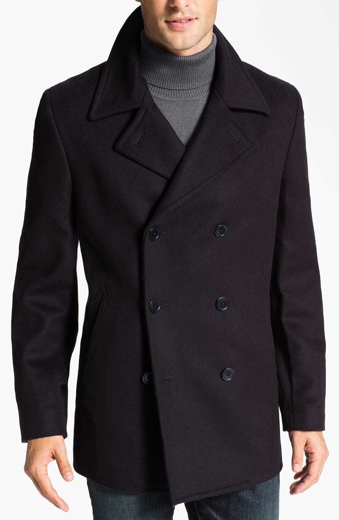 Main Image - John Varvatos Star USA Double Breasted Peacoat