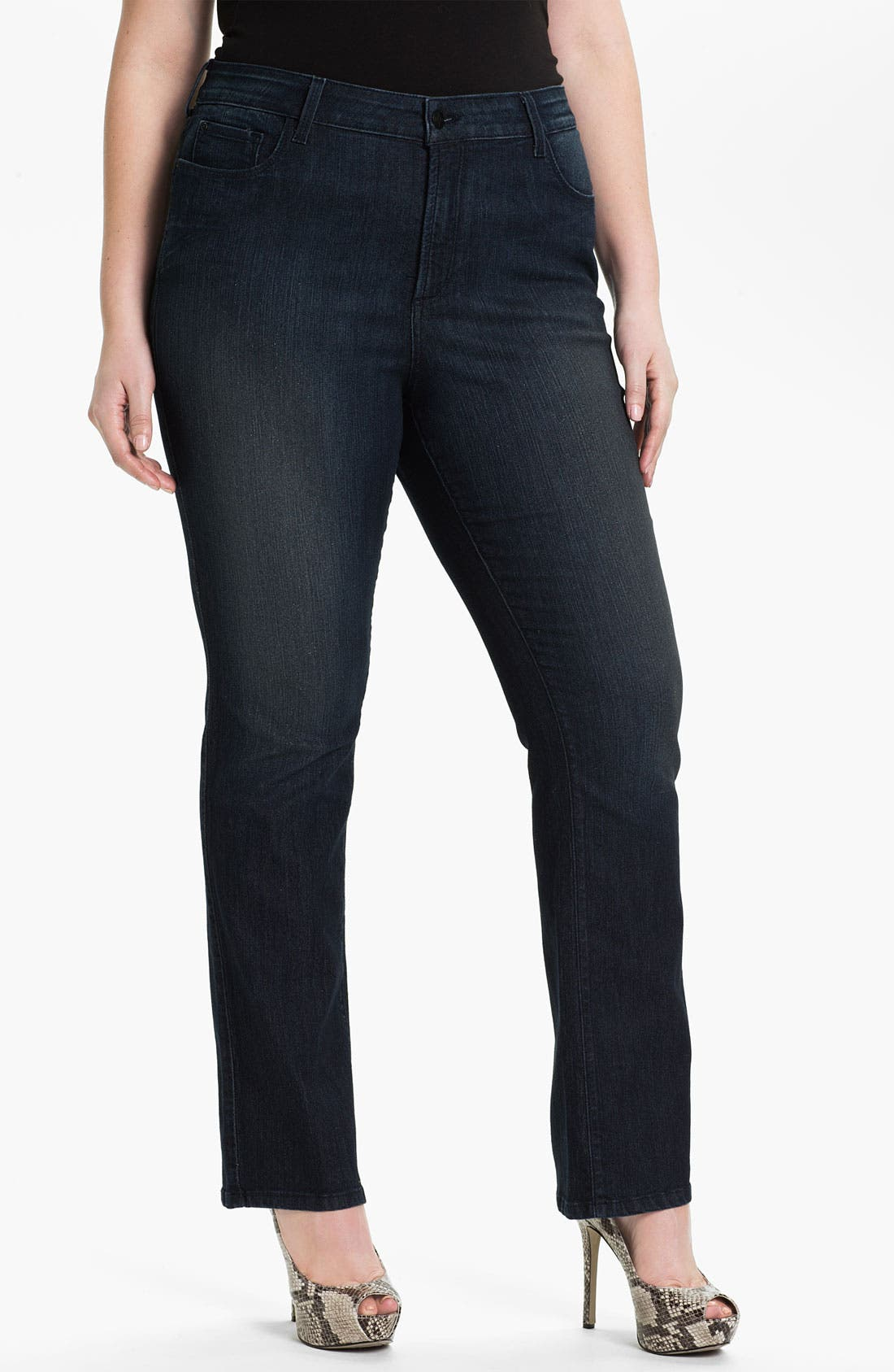 Alternate Image 1 Selected - NYDJ 'Marilyn' Straight Leg Stretch Denim Jeans (Plus)