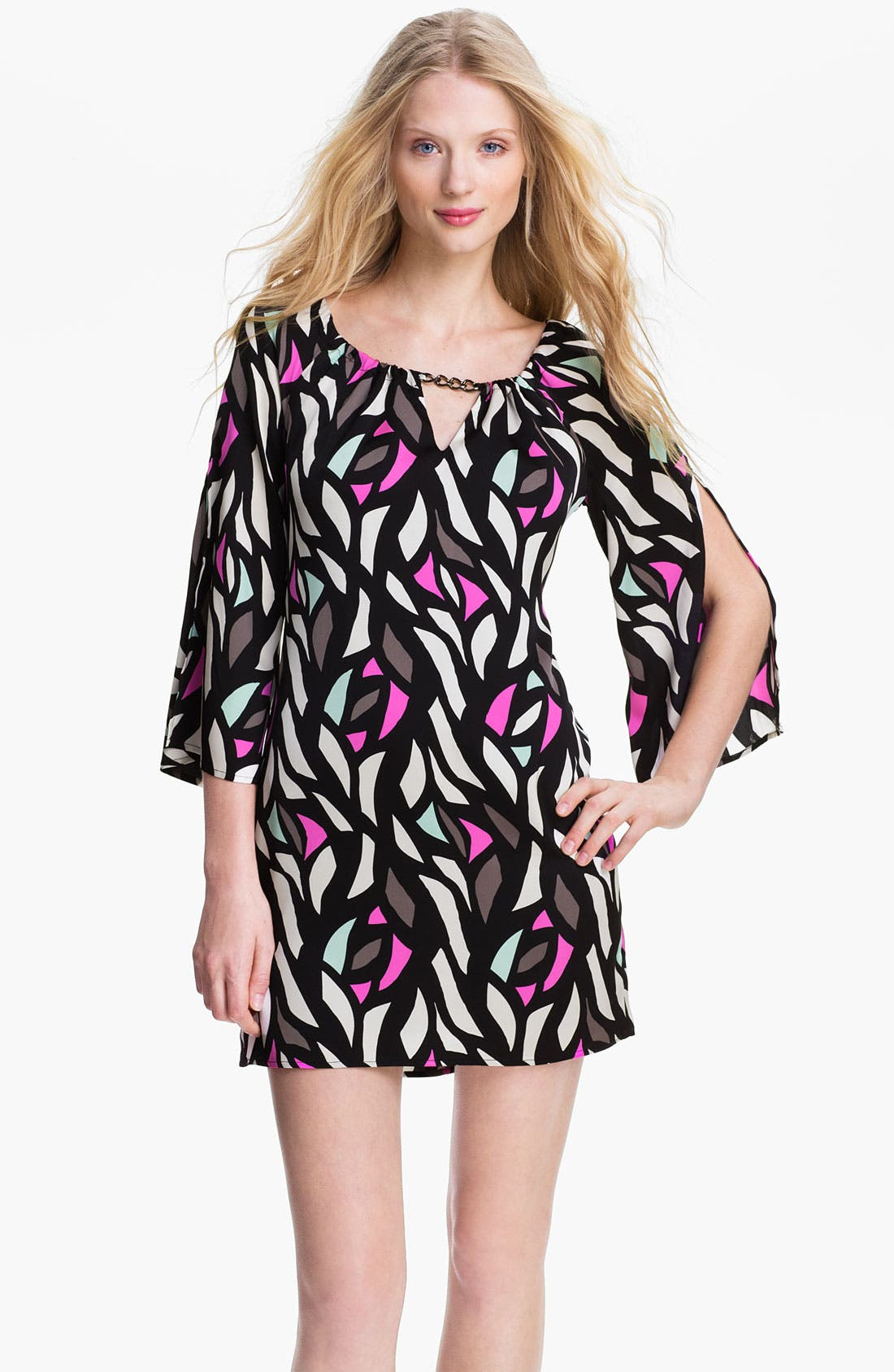 Main Image - Milly Stretch Silk Shift Dress