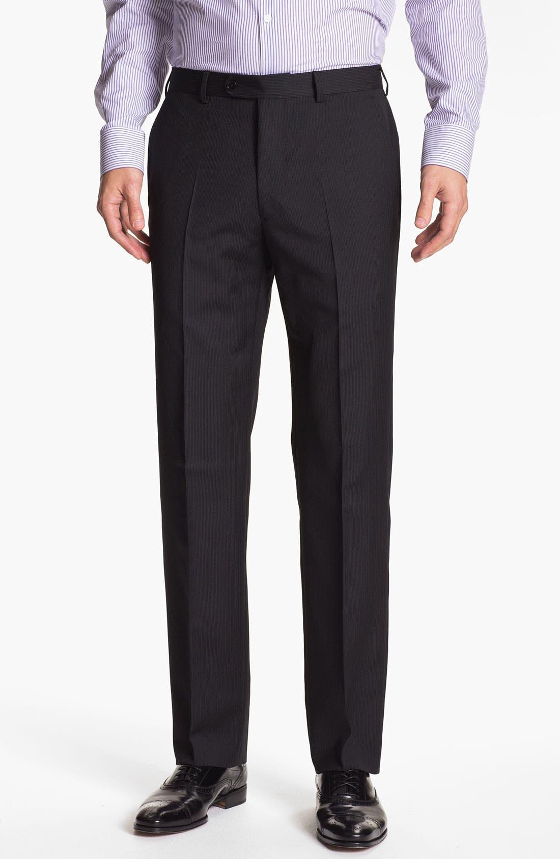 Alternate Image 4  - John Varvatos Star USA 'Berkley' Trim Fit Stripe Suit