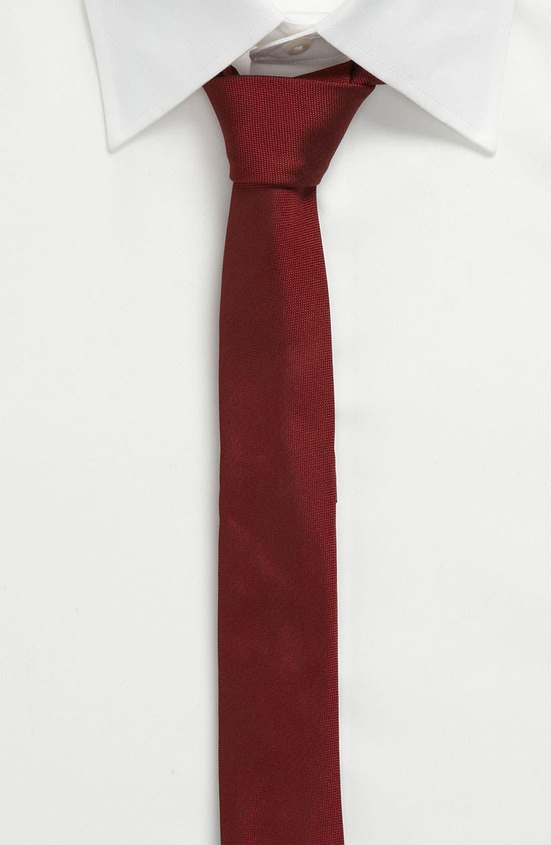 Alternate Image 3  - Topman Narrow Textured Tie