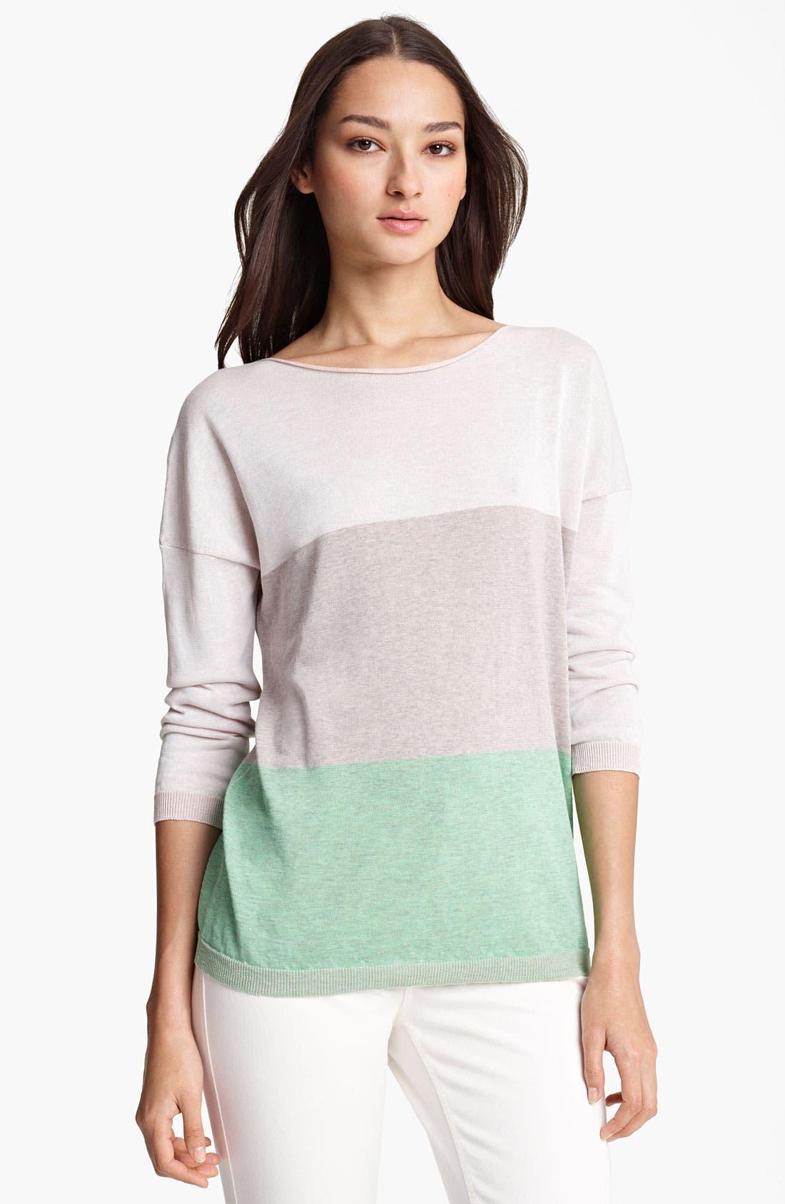Alternate Image 1 Selected - Fabiana Filippi Stripe Long Sleeve Knit Top