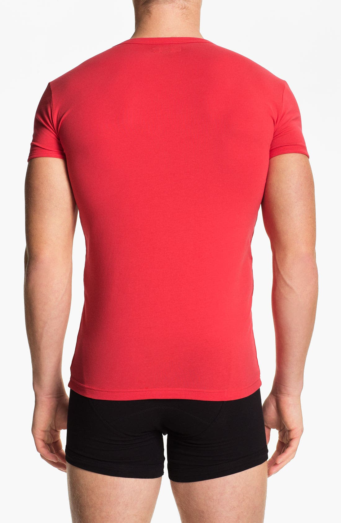 Alternate Image 2  - Emporio Armani V-Neck Stretch Cotton T-Shirt