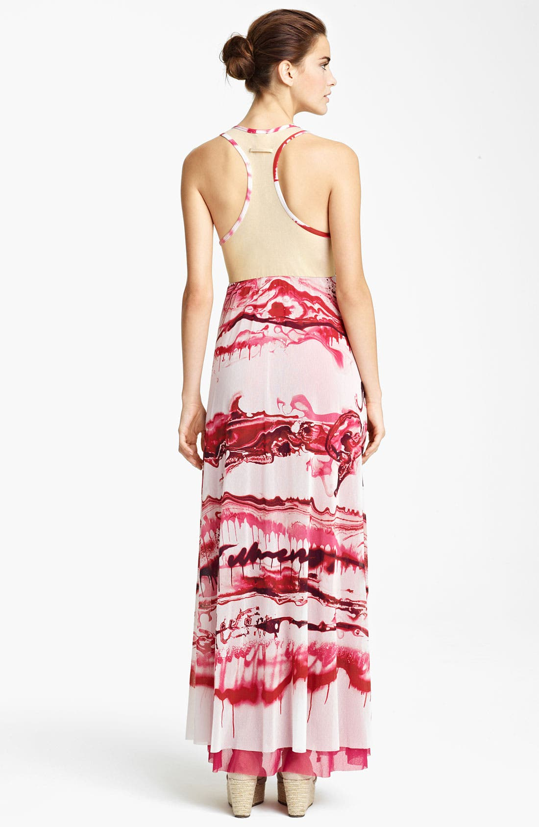 Alternate Image 2  - Jean Paul Gaultier Fuzzi Graffiti Print Tulle Maxi Dress