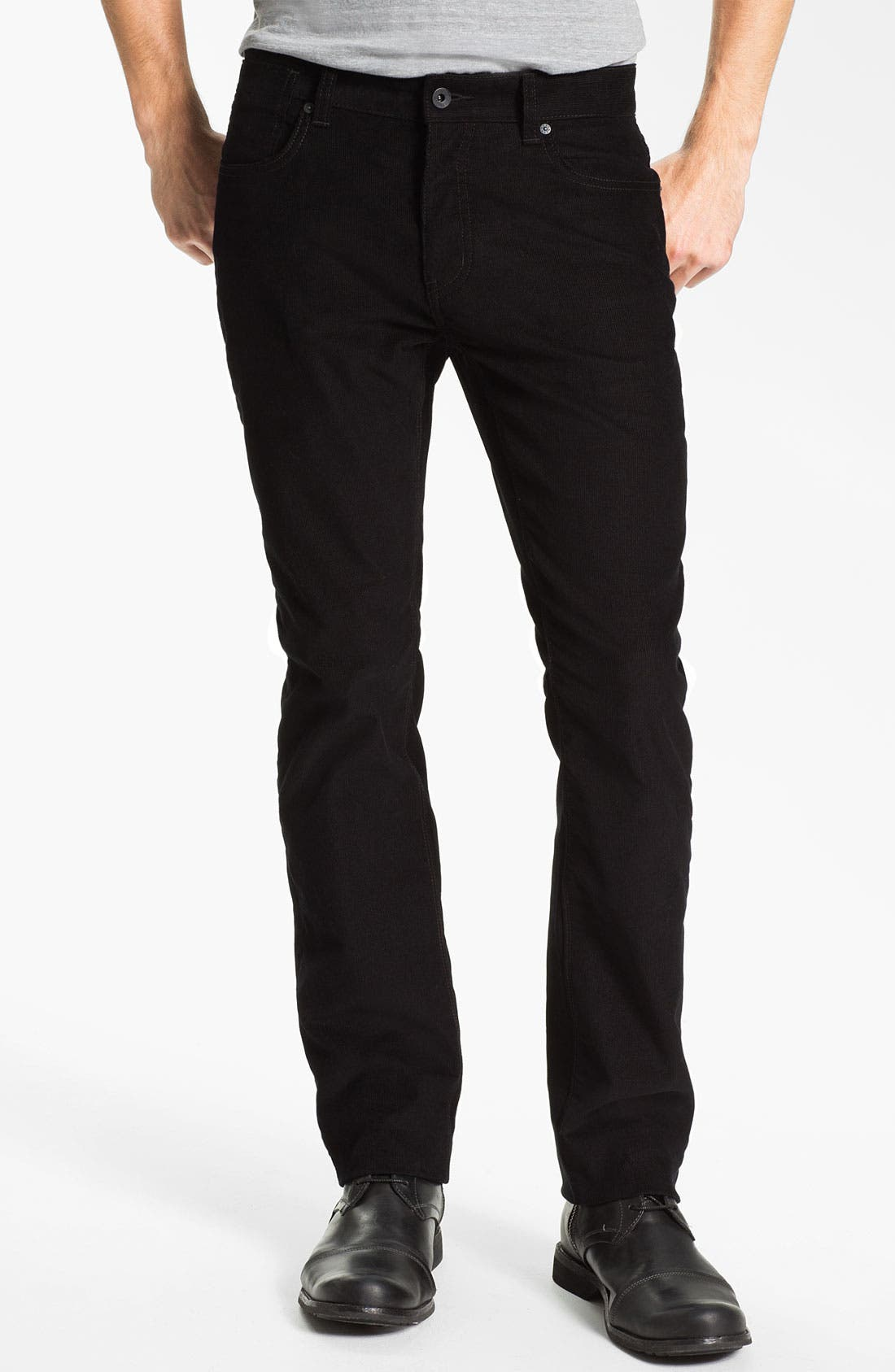 Main Image - John Varvatos Star USA 'Bowery' Slim Straight Leg Corduroy Pants