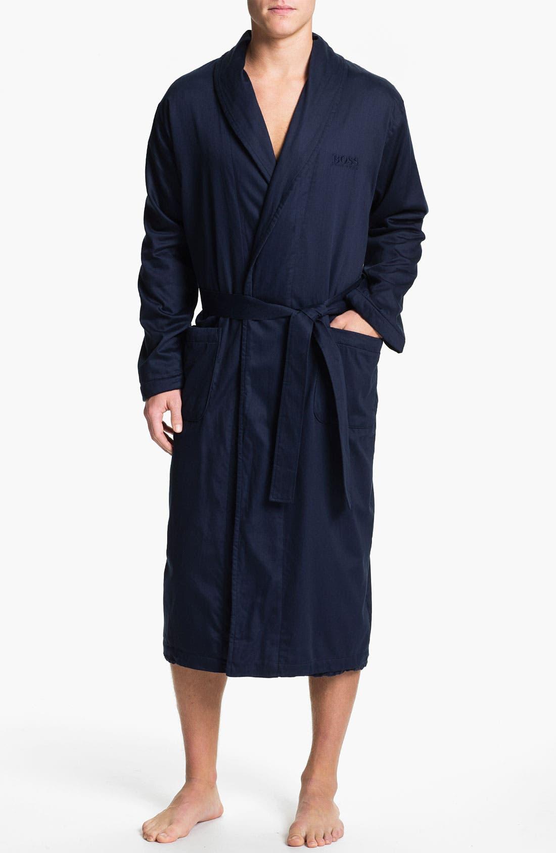 Alternate Image 1 Selected - BOSS Black Shawl Collar 'Innovation 6' Robe