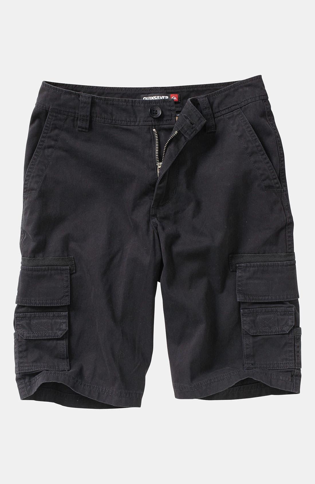 Alternate Image 1 Selected - Quiksilver 'Escargot' Cargo Shorts (Big Boys)