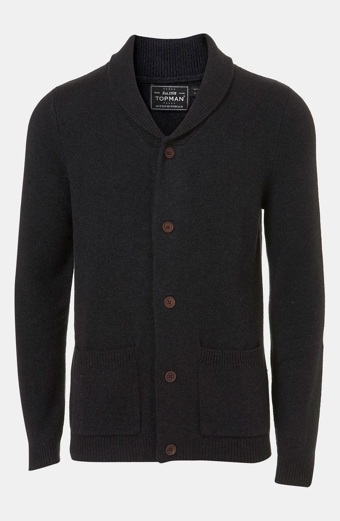Alternate Image 1 Selected - Topman Shawl Collar Cardigan
