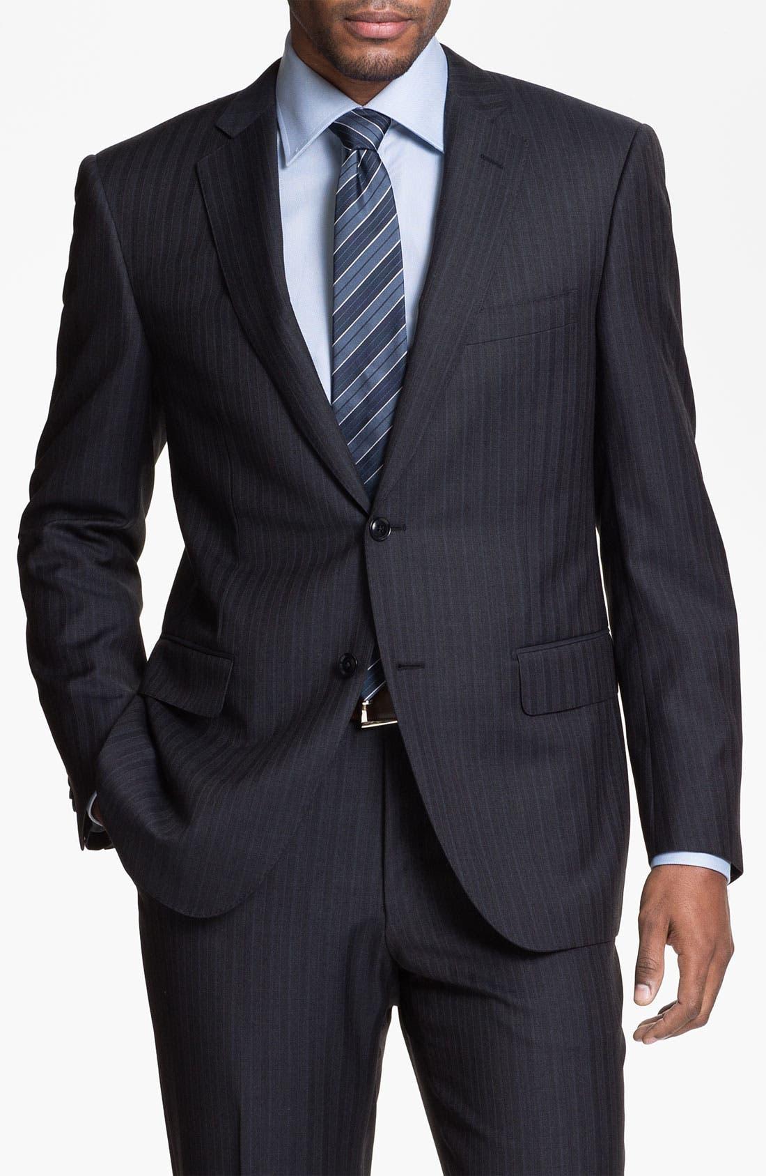 Main Image - Pal Zileri Trim Fit Stripe Suit