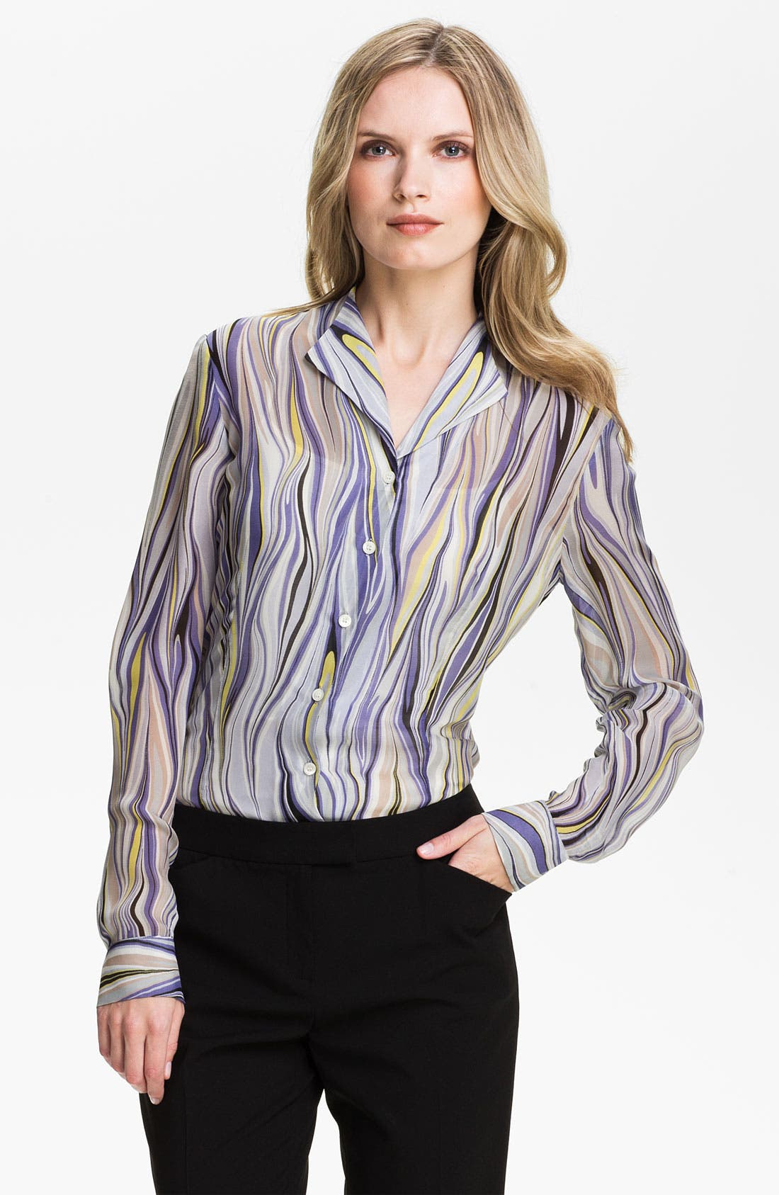 Alternate Image 1 Selected - Lafayette 148 New York 'Audrey - Etro Gamma' Print Blouse