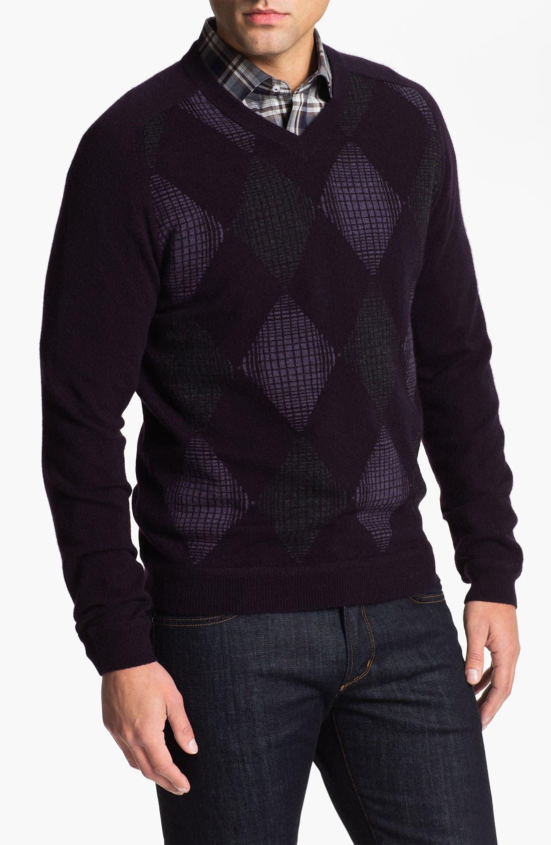 Alternate Image 1 Selected - John W. Nordstrom® Cashmere V-Neck Sweater