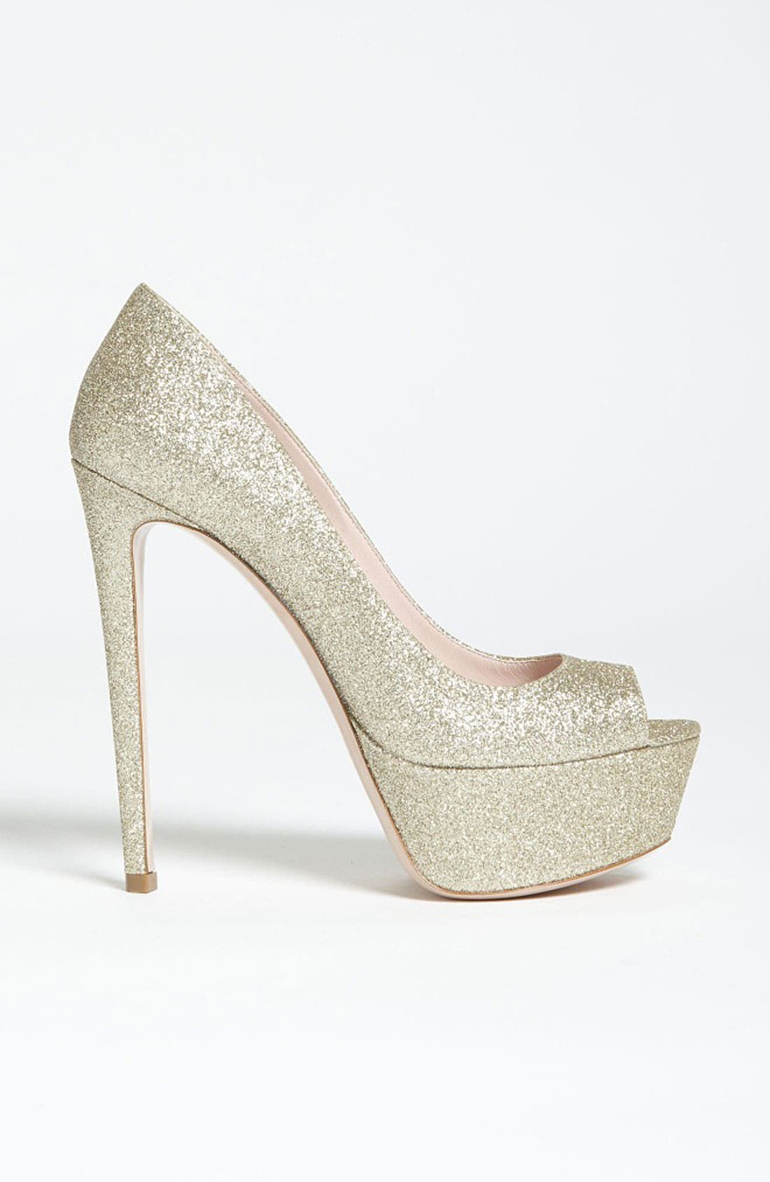 Alternate Image 4  - Miu Miu Glitter Peep Toe Pump