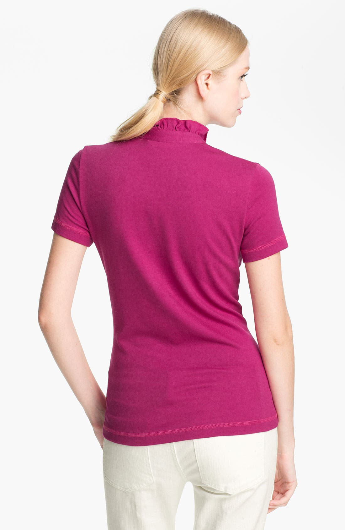 Alternate Image 2  - Tory Burch 'Lidia' Ruffle Polo