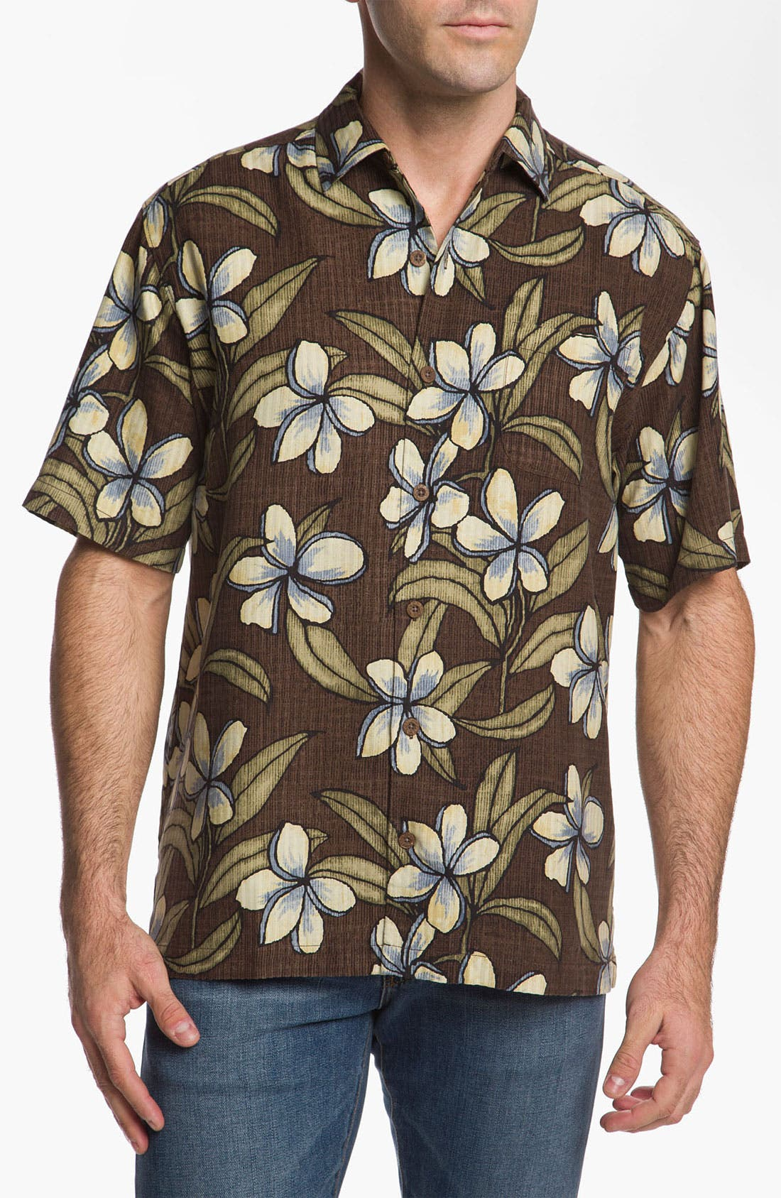 Alternate Image 1 Selected - Tommy Bahama 'Coconut Retreat' Silk Campshirt