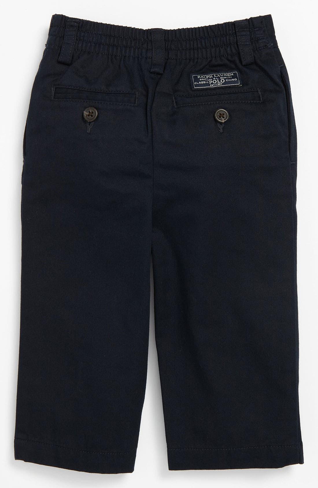 Alternate Image 1 Selected - Ralph Lauren Pleated Pants (Baby)