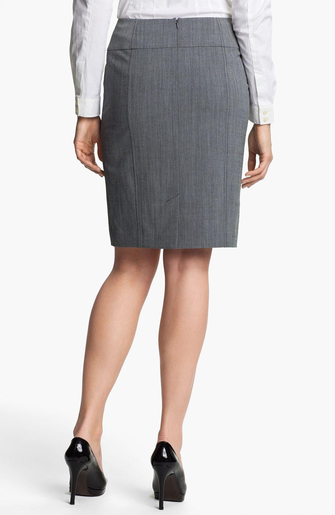 Alternate Image 2  - Halogen® Cross Dye Pencil Skirt