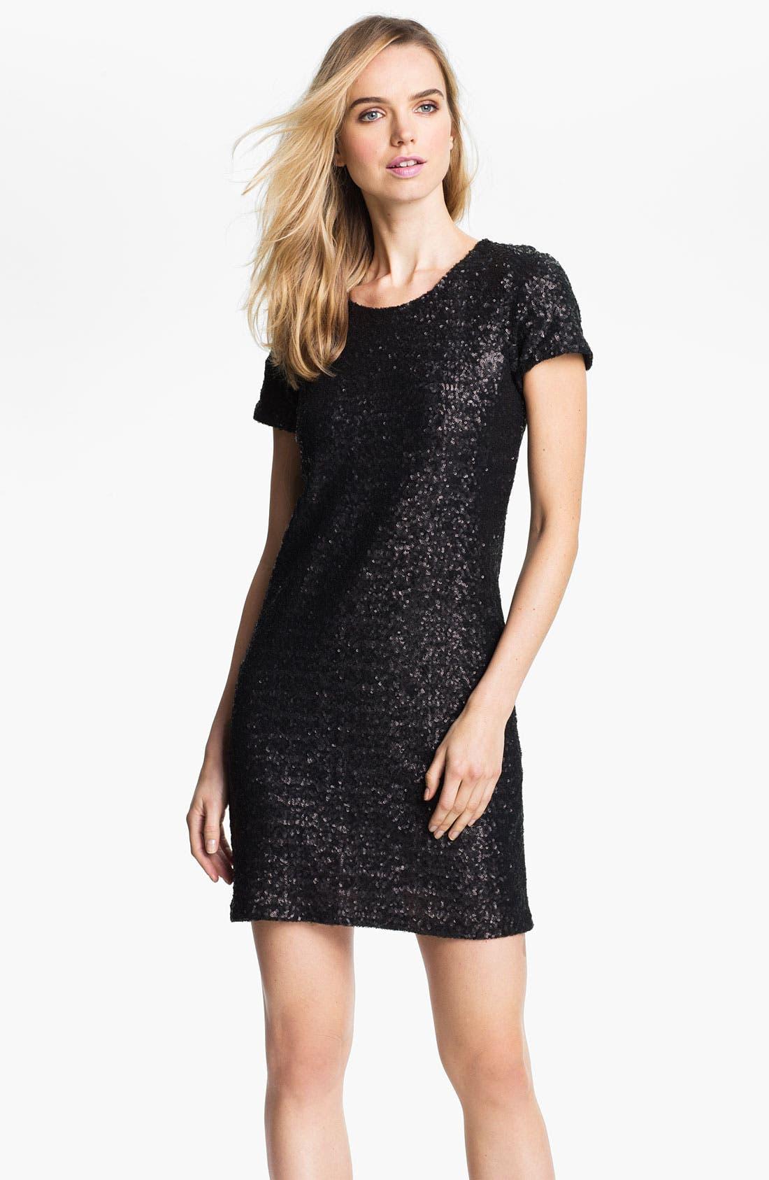 Main Image - Velvet by Graham & Spencer Sequin T-Shirt Dress