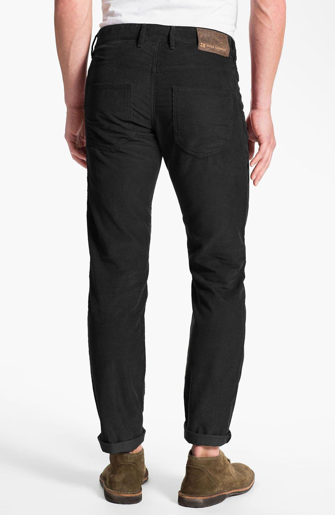 Alternate Image 1 Selected - BOSS Orange Straight Leg Corduroy Pants