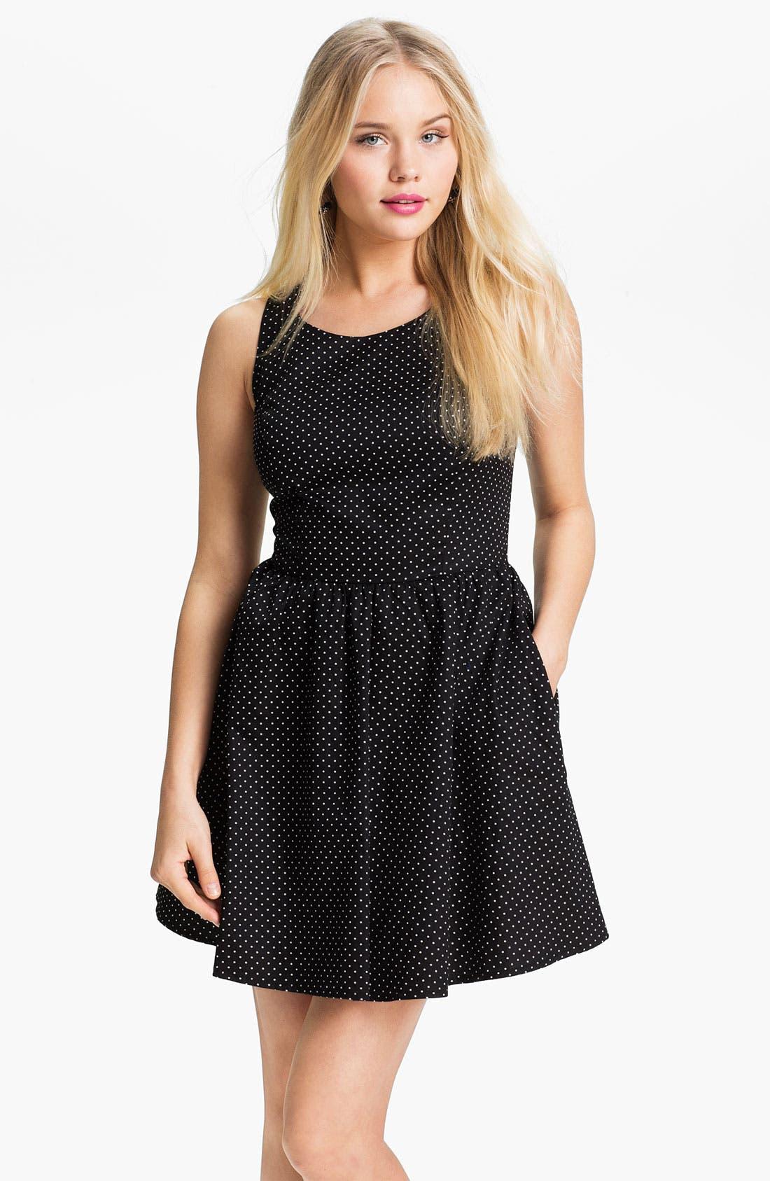 Alternate Image 1 Selected - Mimi Chica Print Sleeveless Dress (Juniors)