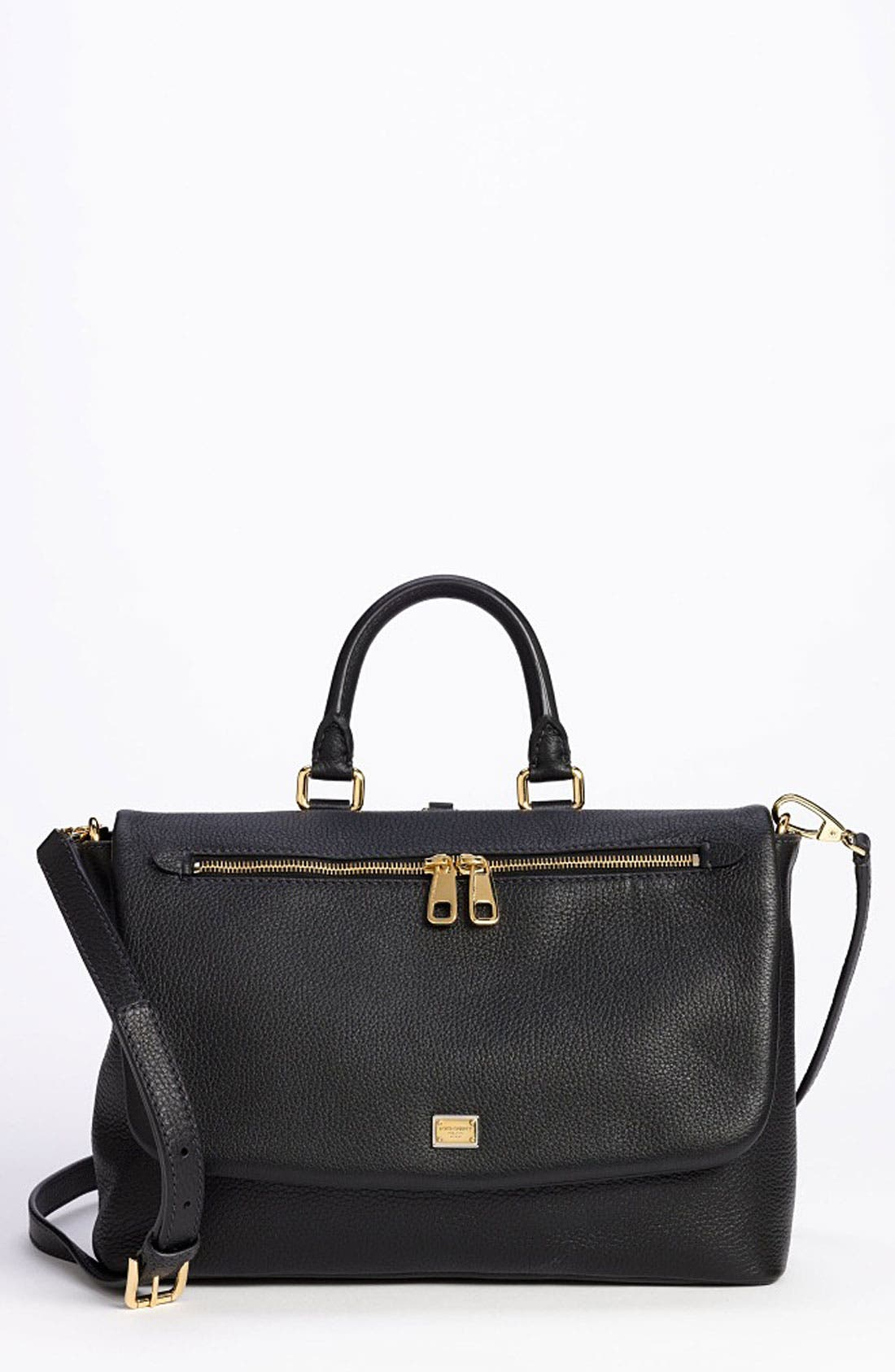 Main Image - Dolce&Gabbana 'Miss Emma' Leather Satchel