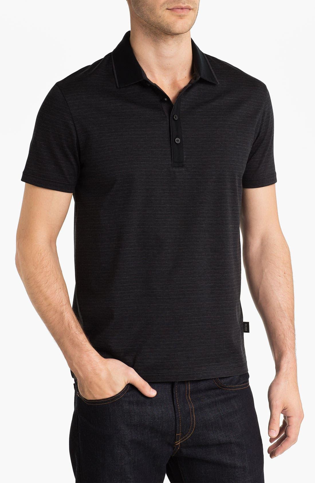 Alternate Image 1 Selected - BOSS Black 'Fontana' Regular Fit Polo