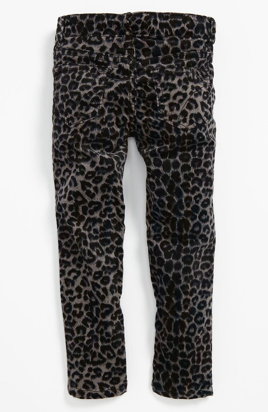 Main Image - Joe's Stretch Skinny Animal Print Velvet Denim Pants (Toddler)
