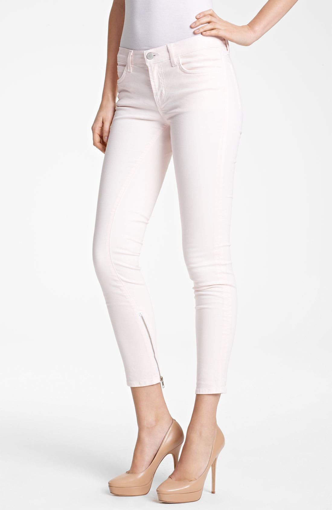 Main Image - J Brand + Christopher Kane Overdyed Skinny Stretch Jeans
