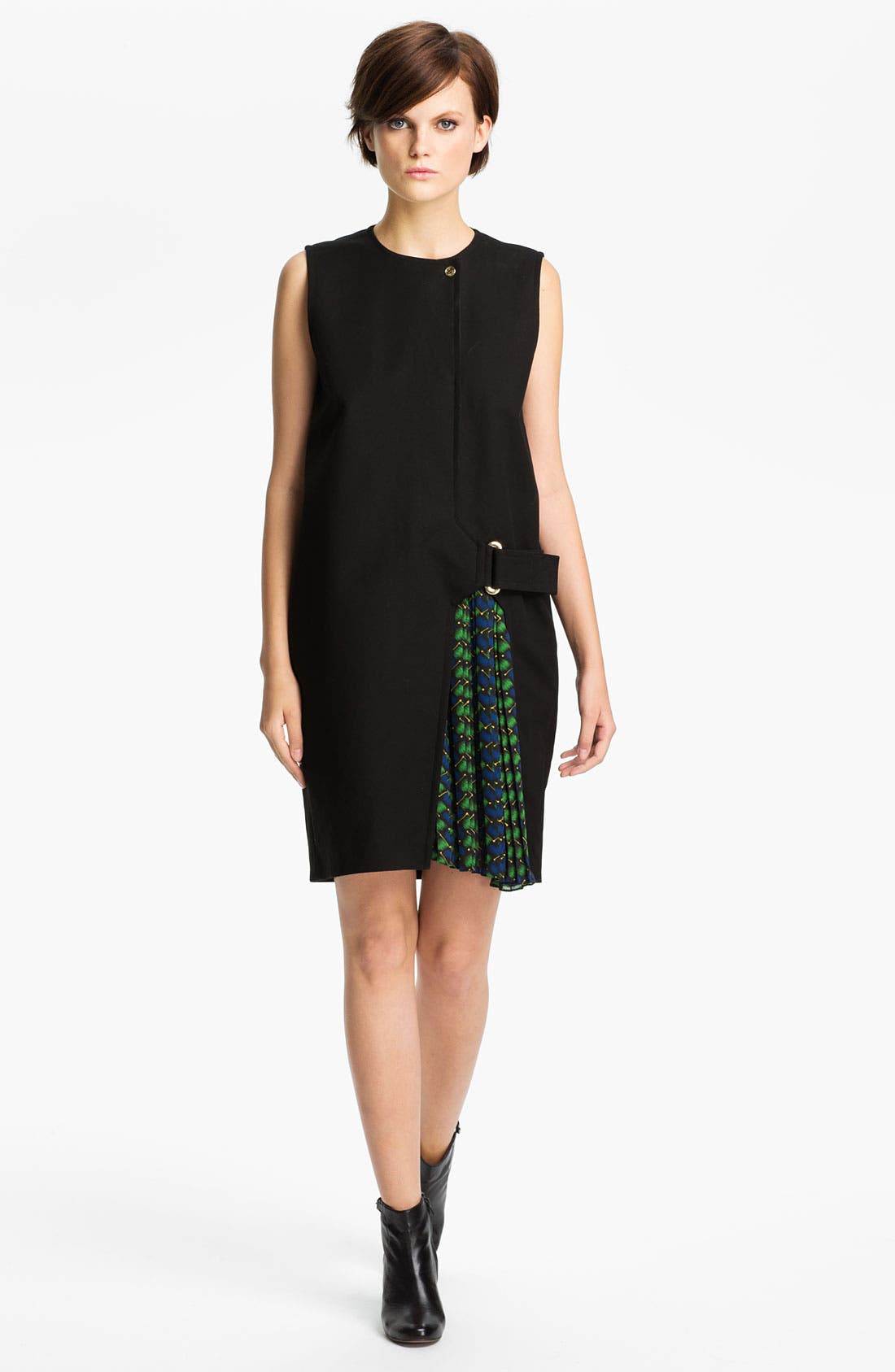 Alternate Image 1 Selected - KENZO Side Belted Stretch Cotton Dress