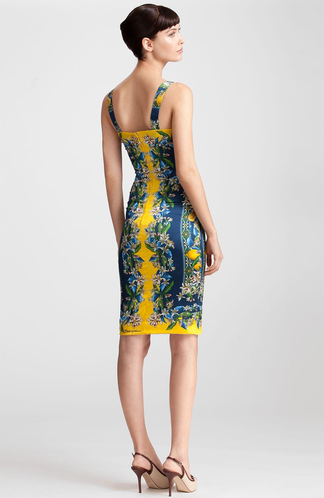 Alternate Image 2  - Dolce&Gabbana Tile Print Stretch Satin Dress