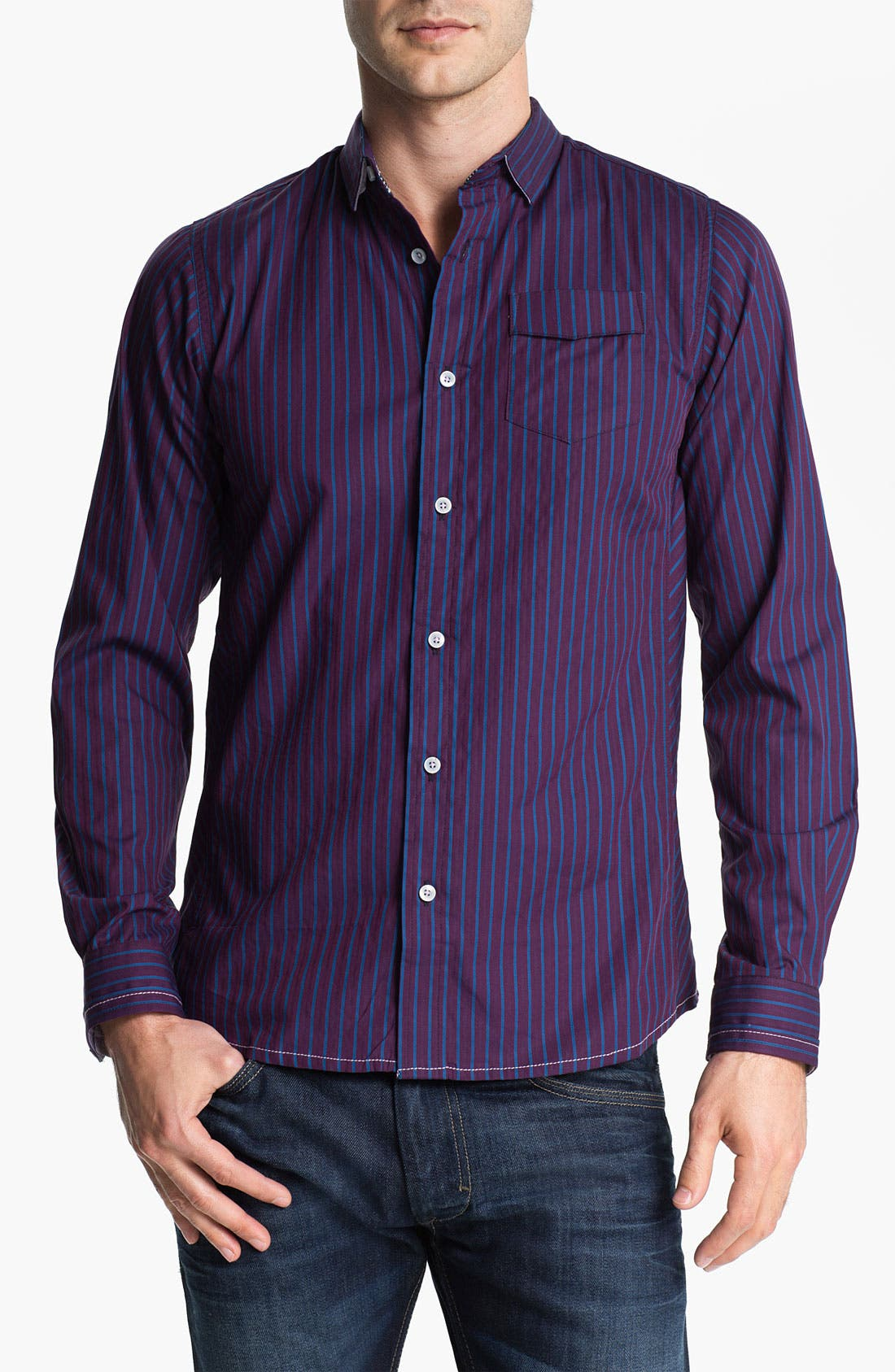 Alternate Image 1 Selected - Descendant of Thieves Stripe Woven Shirt