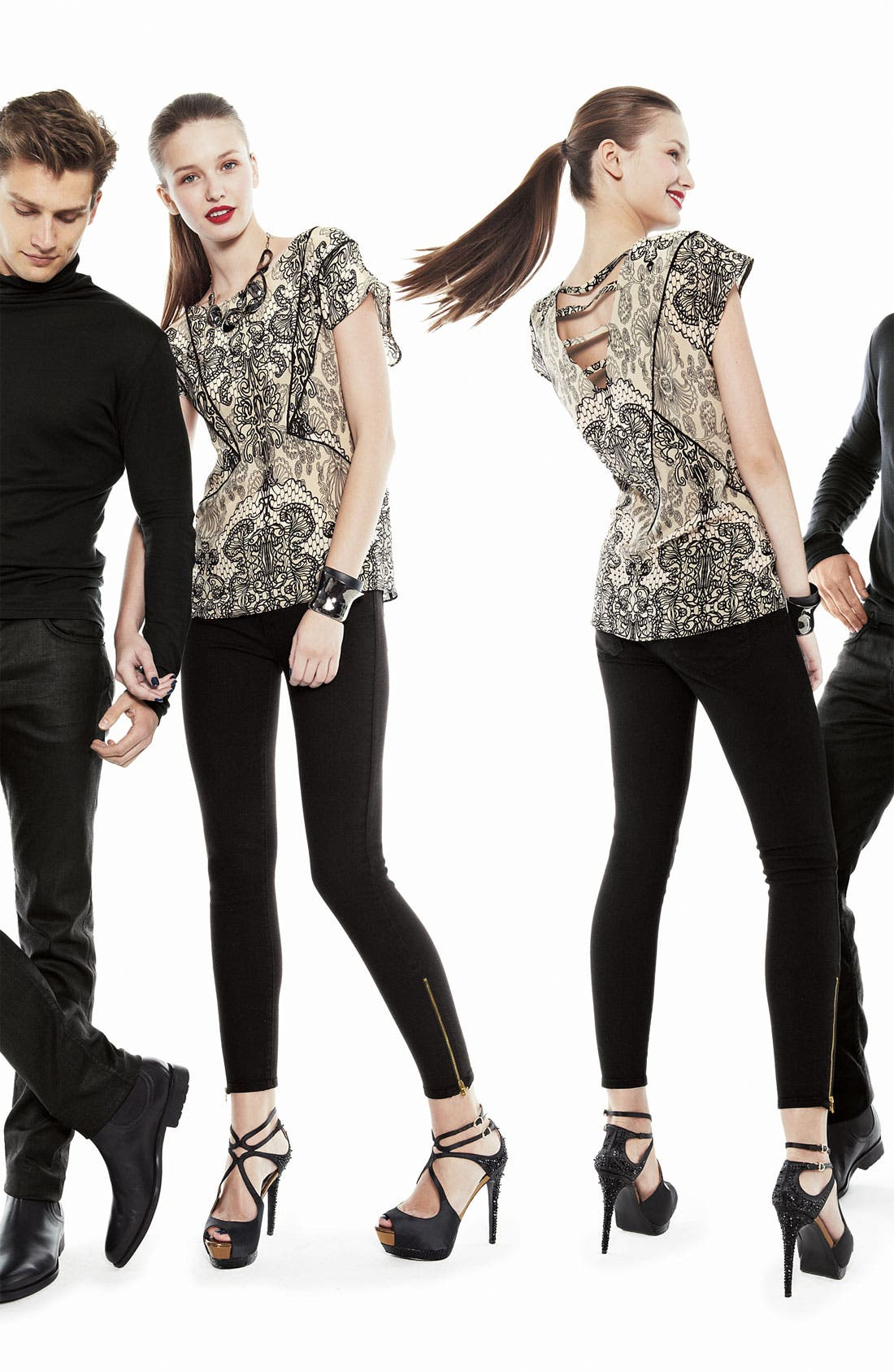 Alternate Image 5  - Paige Denim 'Verdugo' Ankle Zip Skinny Stretch Jeans (Black Ink)