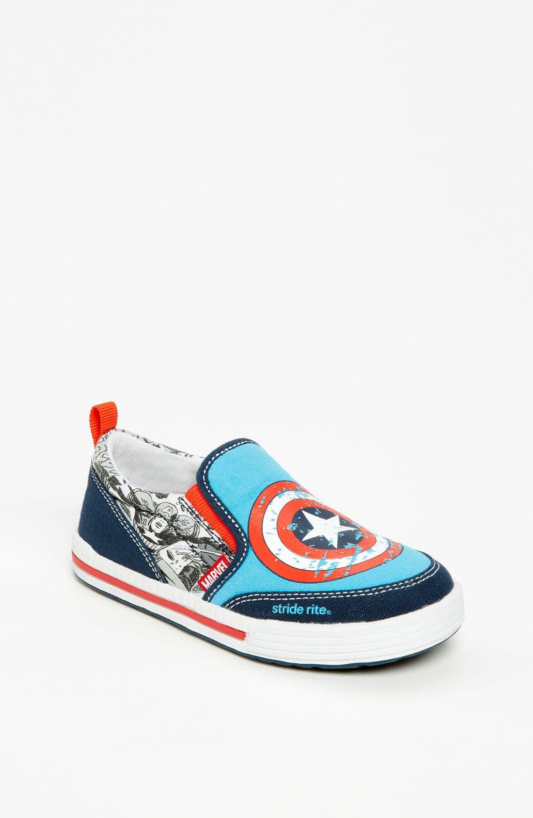 Alternate Image 1 Selected - Stride Rite 'Captain America™' Sneaker (Toddler)