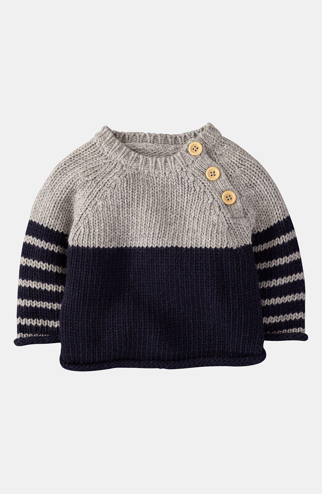 Main Image - Mini Boden 'Winter' Sweater (Infant)