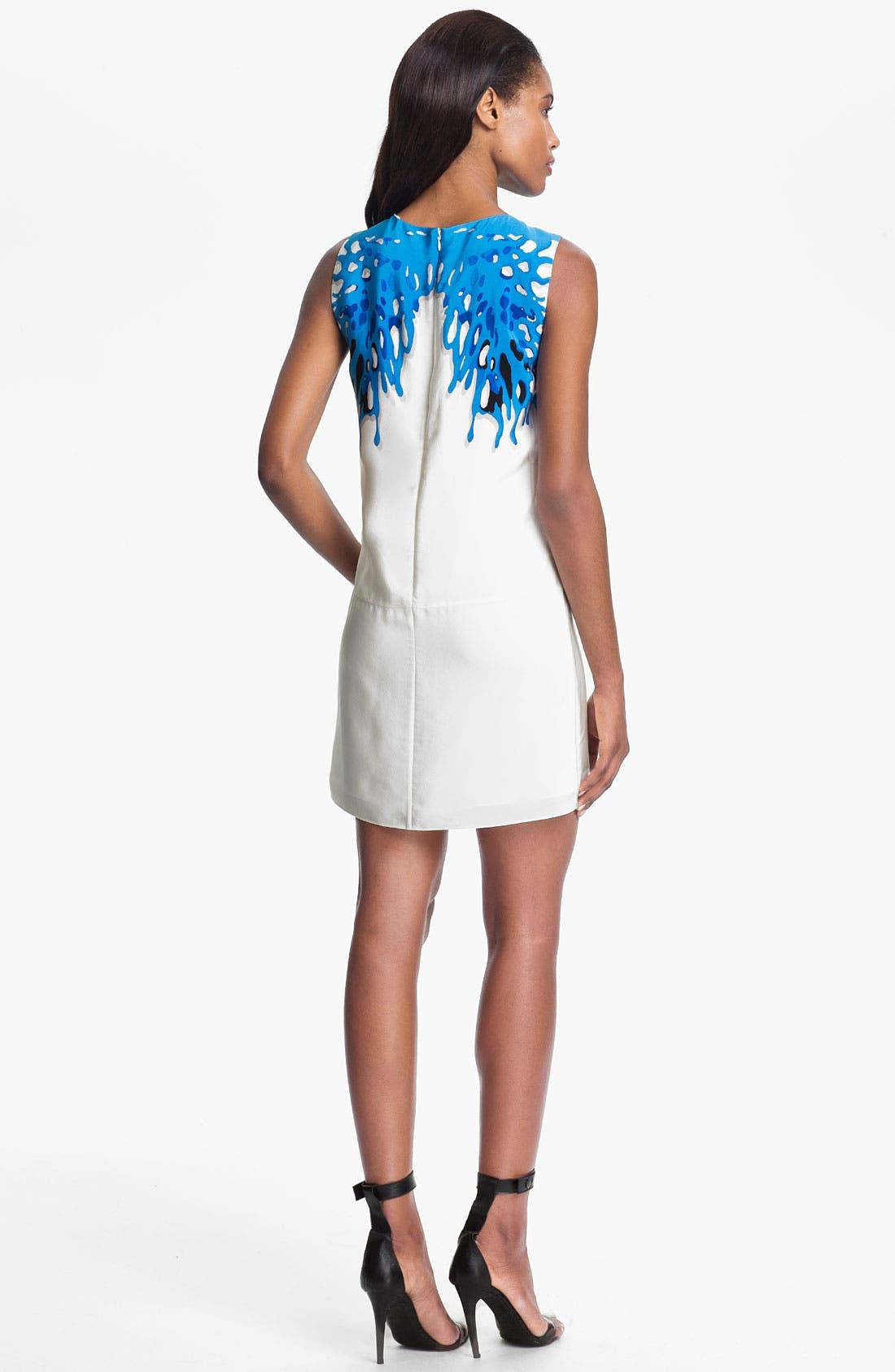 Alternate Image 2  - Tibi Coral Print Silk Dress