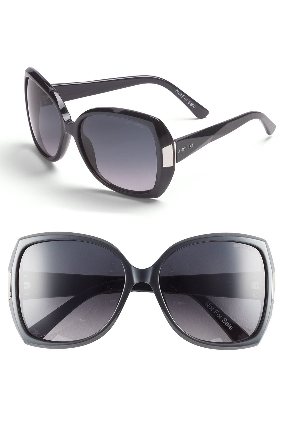 Alternate Image 1 Selected - Jimmy Choo 'Gaby' Oversized Sunglasses