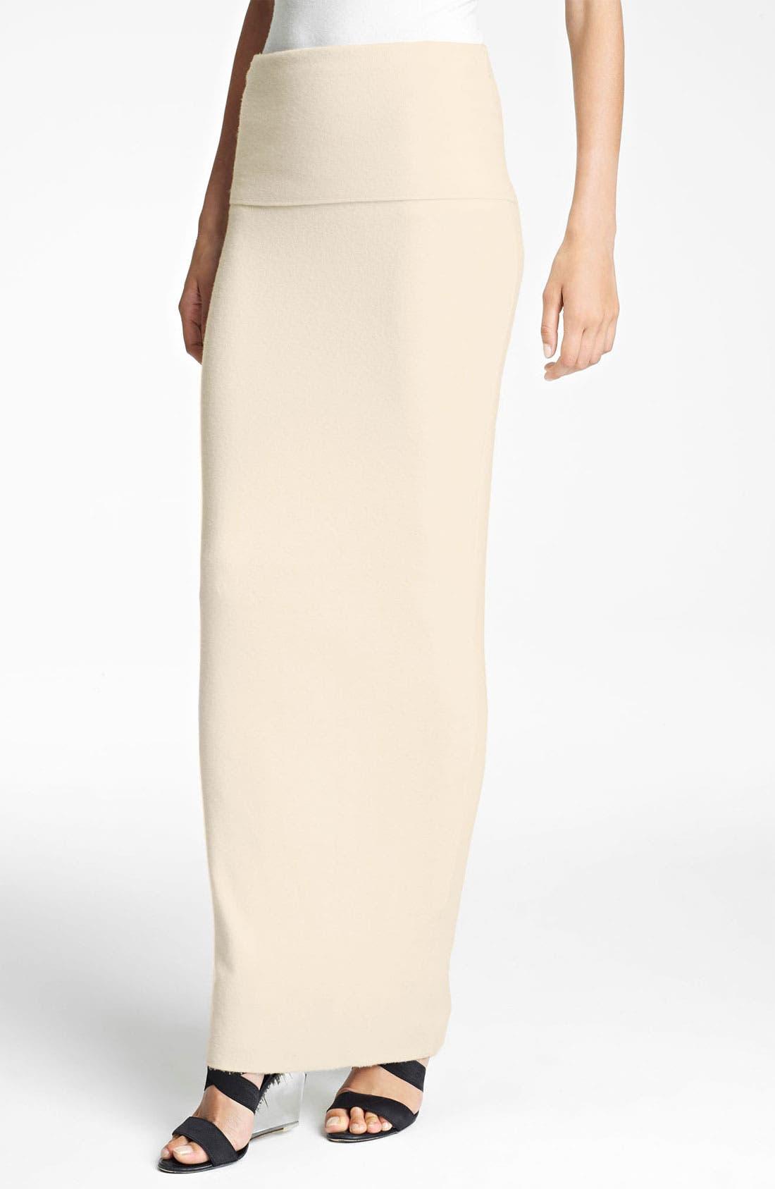 Main Image - Donna Karan Collection 'First Layer' Cashmere Blend Maxi Skirt
