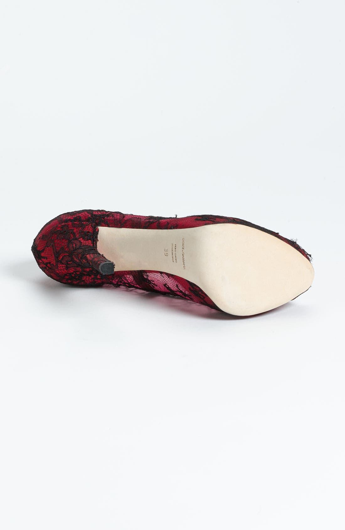 Alternate Image 4  - Dolce&Gabbana Lace Pump