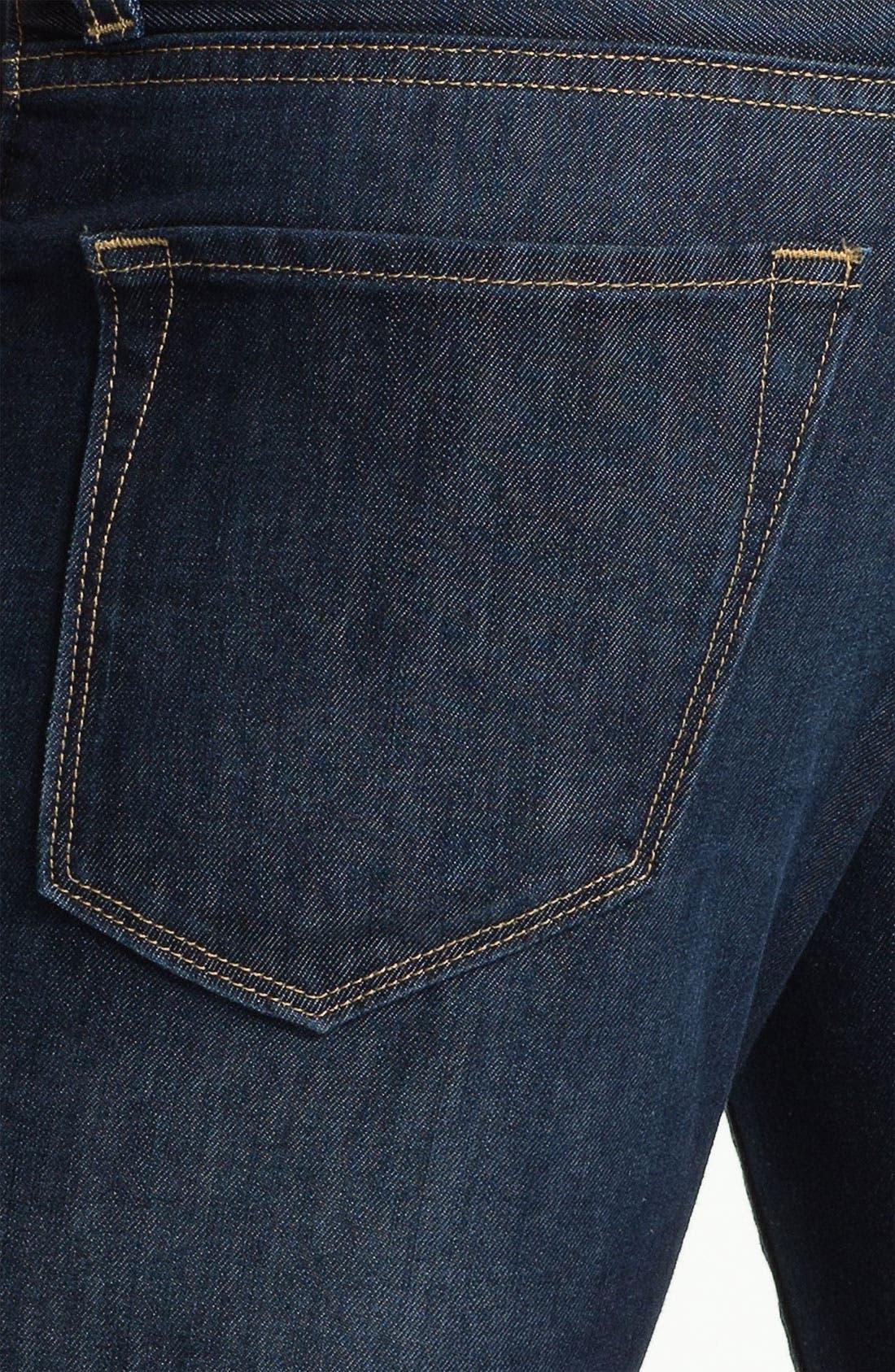 Alternate Image 4  - BOSS Black 'Maine' Straight Leg Jeans (Blue Flannel)