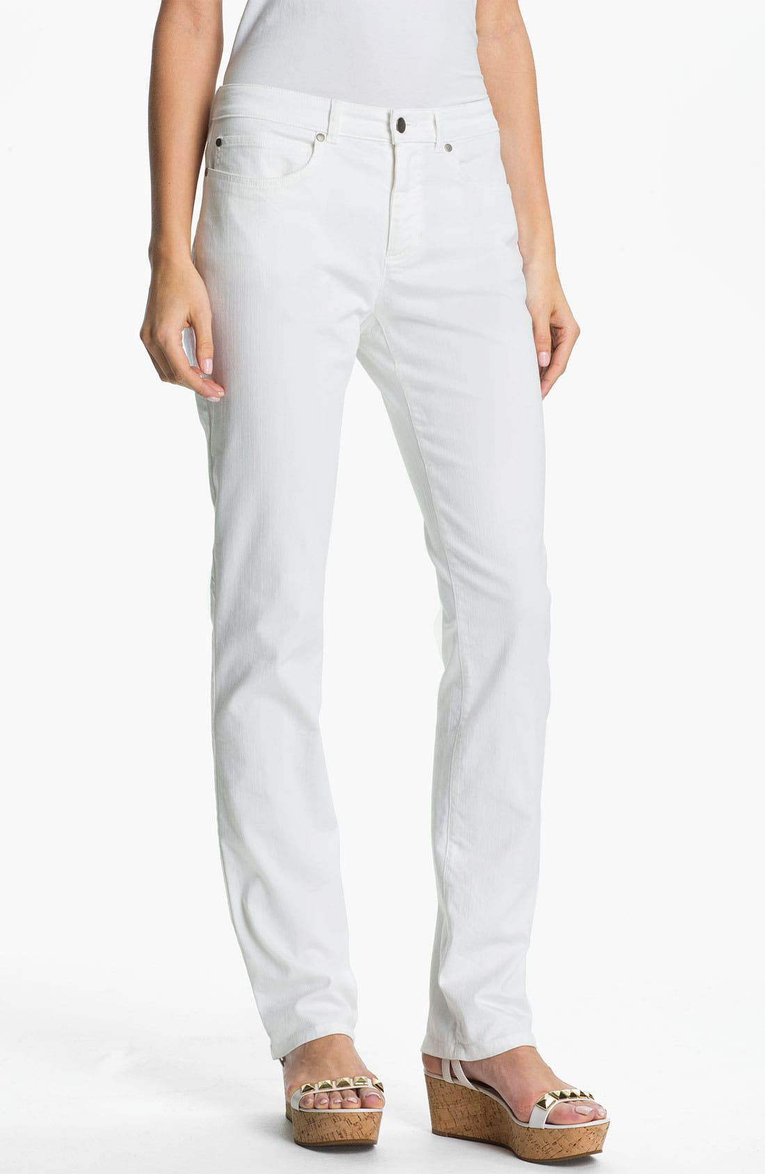 Alternate Image 1 Selected - Eileen Fisher White Denim Jeans